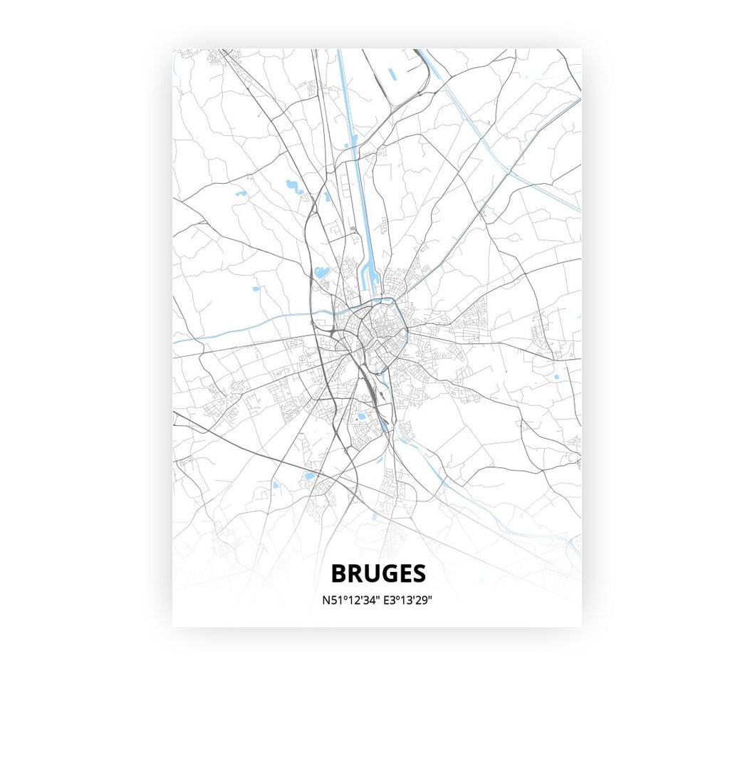 Bruges poster - Classic - Printmycity