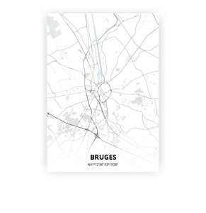 Bruges poster - Cold Horizon - Printmycity
