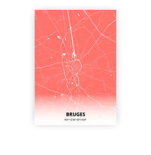 Load image into Gallery viewer, Bruges poster - Coral Sunset - Printmycity