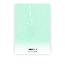 Load image into Gallery viewer, Bruges poster - Empire Green - Printmycity