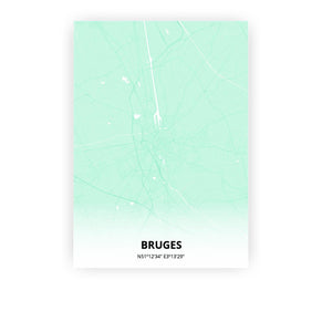 Bruges poster - Empire Green - Printmycity