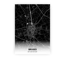 Load image into Gallery viewer, Bruges poster - Impact Black - Printmycity