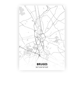 Bruges poster - Lo-fi - Printmycity