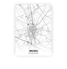 Load image into Gallery viewer, Bruges poster - Mono - Printmycity