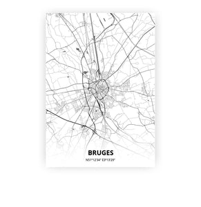 Bruges poster - Mono - Printmycity