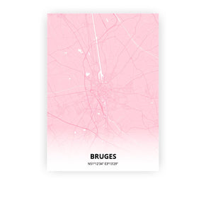 Bruges poster - Pink Cove - Printmycity