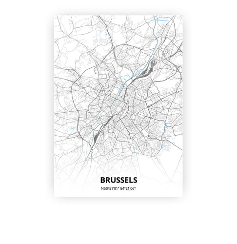 Brussels poster - Classic - Printmycity