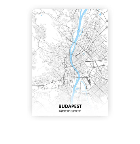 Budapest poster - Classic - Printmycity