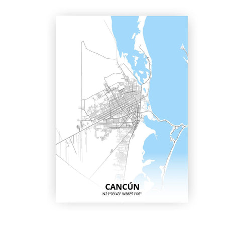 Cancún poster - Classic - Printmycity