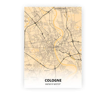 Load image into Gallery viewer, Cologne poster - Antique - Printmycity