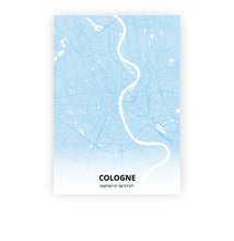 Load image into Gallery viewer, Cologne poster - Baby Blue - Printmycity