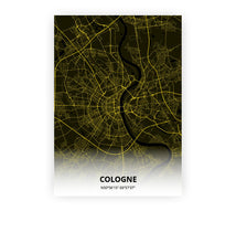 Load image into Gallery viewer, Cologne poster - Black Lantern - Printmycity