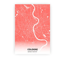 Load image into Gallery viewer, Cologne poster - Coral Sunset - Printmycity