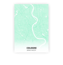 Load image into Gallery viewer, Cologne poster - Empire Green - Printmycity