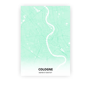Cologne poster - Empire Green - Printmycity