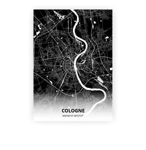 Load image into Gallery viewer, Cologne poster - Impact Black - Printmycity