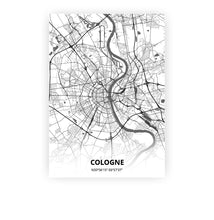 Load image into Gallery viewer, Cologne poster - Mono - Printmycity
