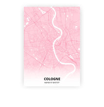Load image into Gallery viewer, Cologne poster - Pink Cove - Printmycity