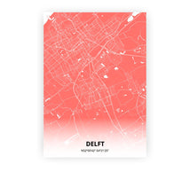 Load image into Gallery viewer, Delft poster - Coral Sunset - Printmycity