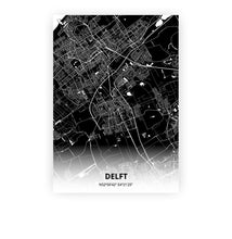 Load image into Gallery viewer, Delft poster - Impact Black - Printmycity