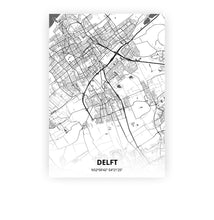 Load image into Gallery viewer, Delft poster - Mono - Printmycity
