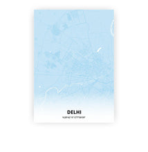 Load image into Gallery viewer, Delhi poster - Baby Blue - Printmycity