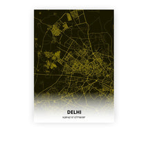Load image into Gallery viewer, Delhi poster - Black Lantern - Printmycity