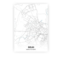 Load image into Gallery viewer, Delhi poster - Cold Horizon - Printmycity