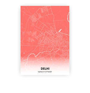 Delhi poster - Coral Sunset - Printmycity