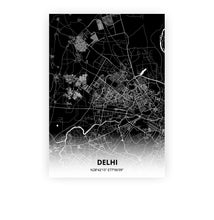 Load image into Gallery viewer, Delhi poster - Impact Black - Printmycity