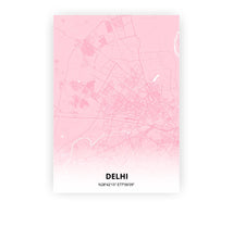 Load image into Gallery viewer, Delhi poster - Pink Cove - Printmycity