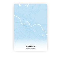 Load image into Gallery viewer, Dresden poster - Baby Blue - Printmycity