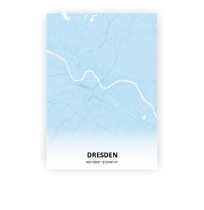 Dresden poster - Baby Blue - Printmycity