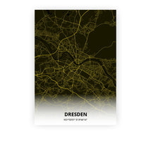 Load image into Gallery viewer, Dresden poster - Black Lantern - Printmycity