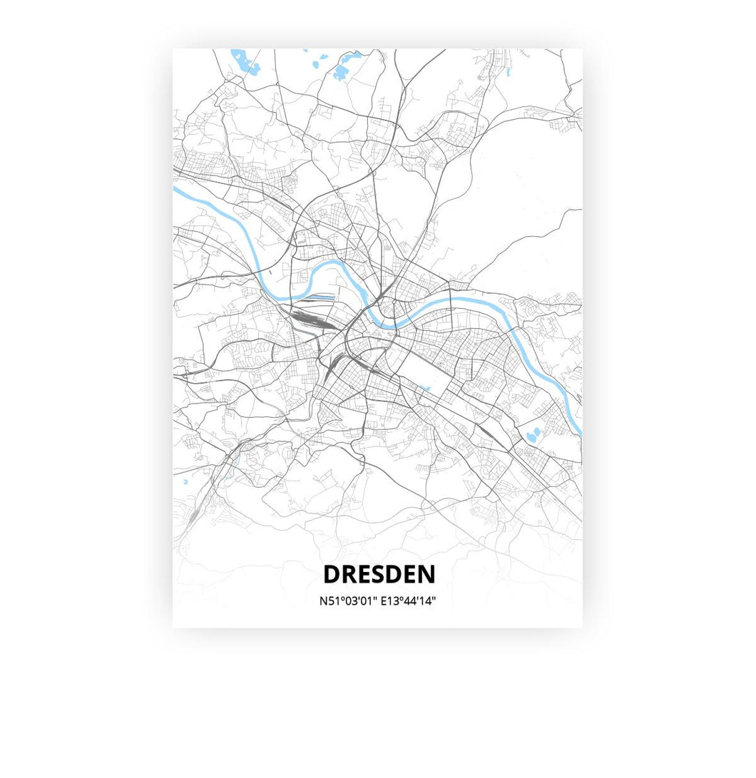 Dresden poster - Classic - Printmycity