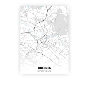 Dresden poster - Cold Horizon - Printmycity