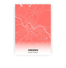 Load image into Gallery viewer, Dresden poster - Coral Sunset - Printmycity