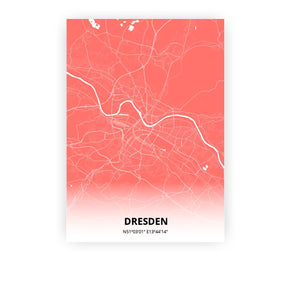 Dresden poster - Coral Sunset - Printmycity