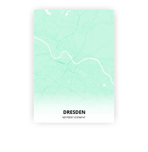 Dresden poster - Empire Green - Printmycity