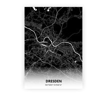Load image into Gallery viewer, Dresden poster - Impact Black - Printmycity