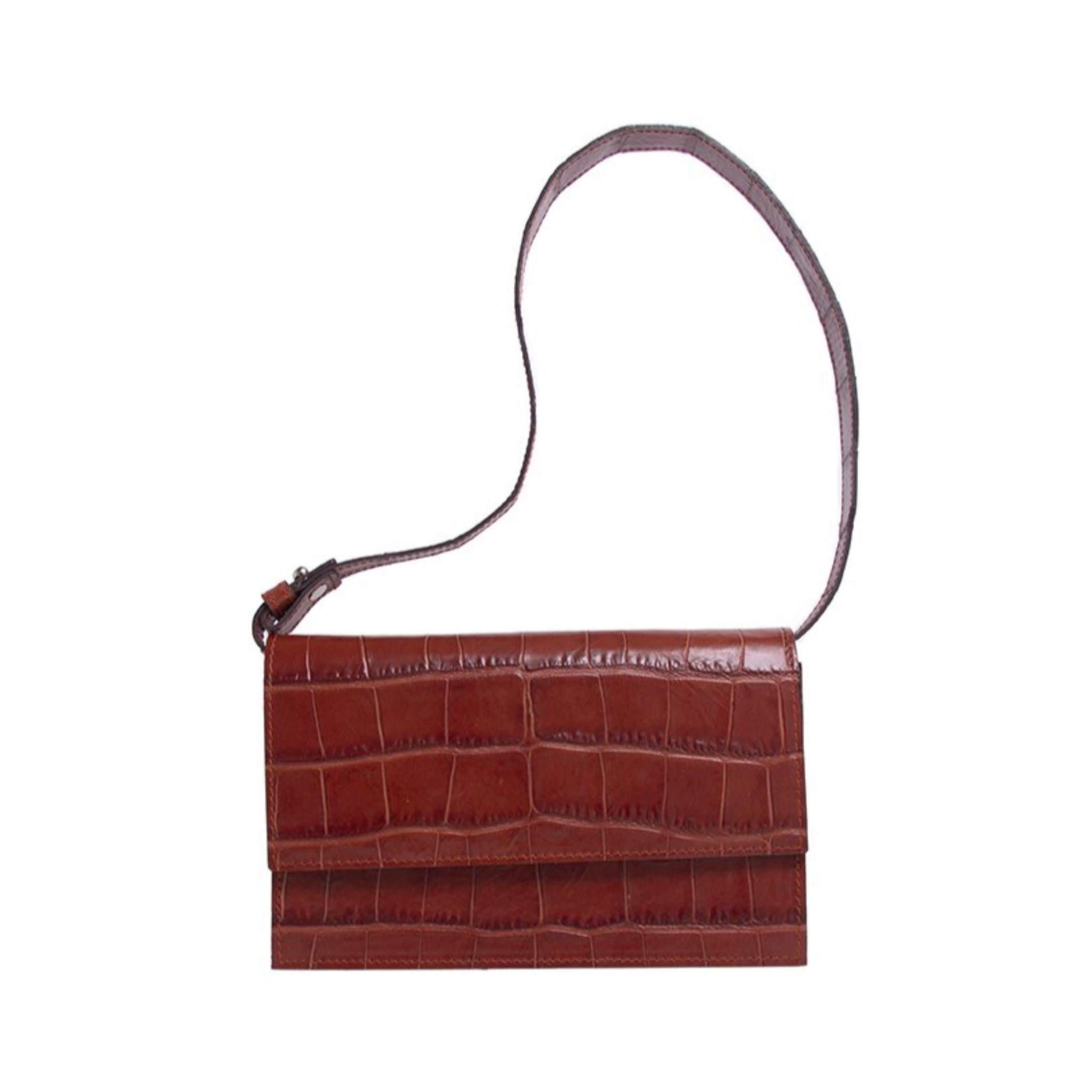 Clivia Clutch in Embossed Alligator