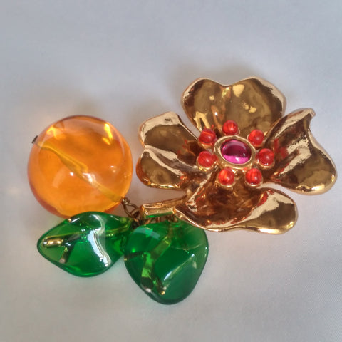 Statement Floral Brooch