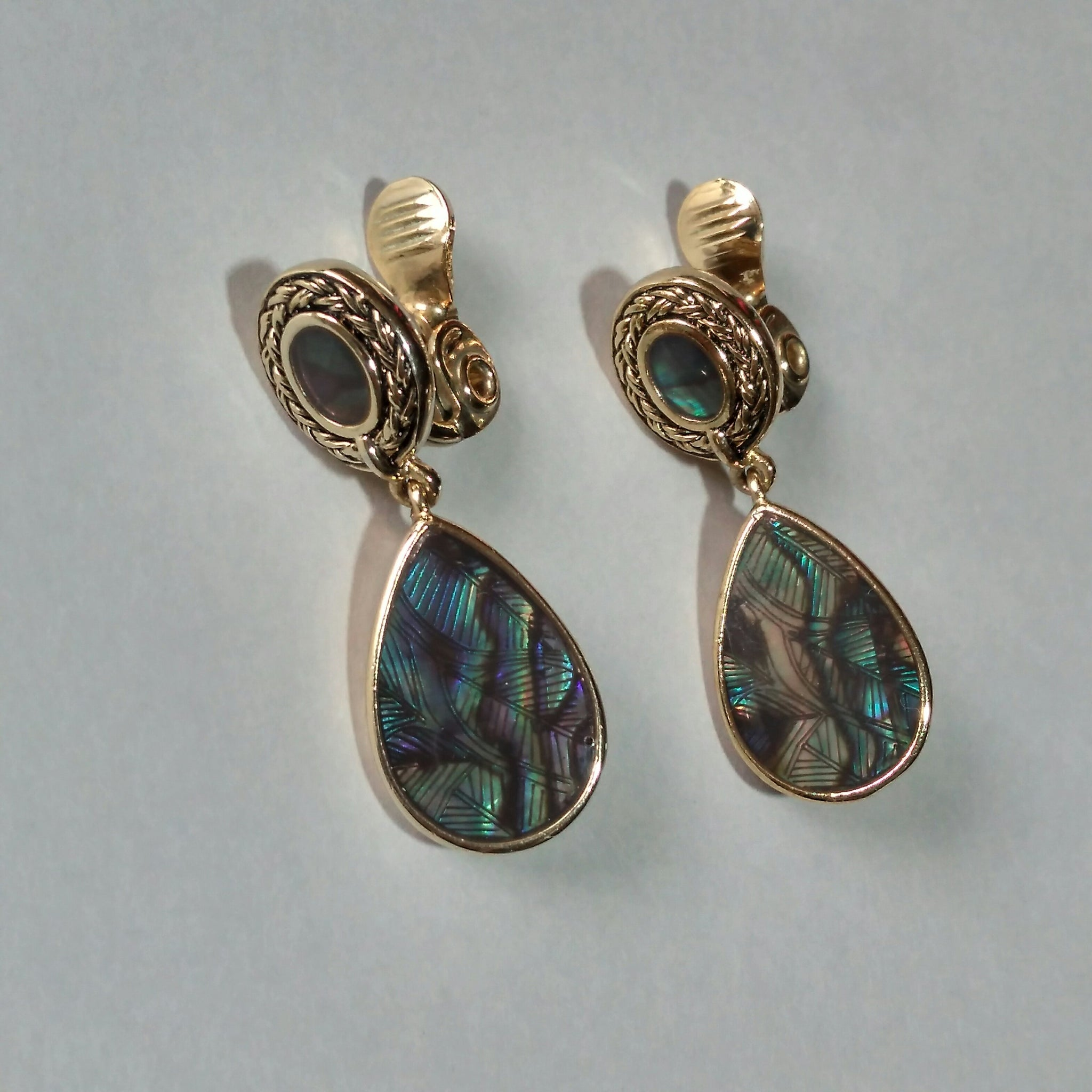 1970s Abalone Earrings