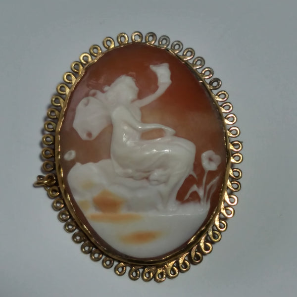 Antique Cameo BroochPendant