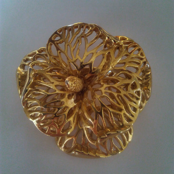 1980s Floral Brooch