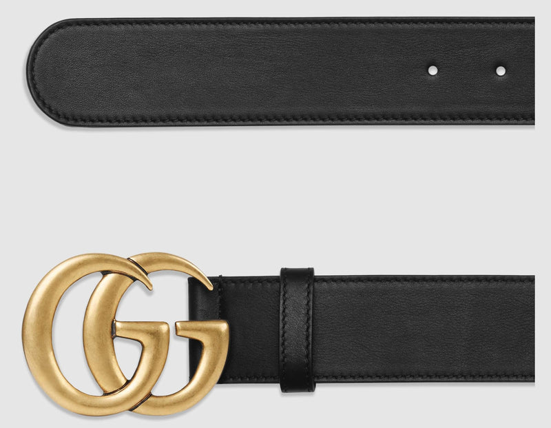 Leather Belt Gold / Silver Buckle 40 mm