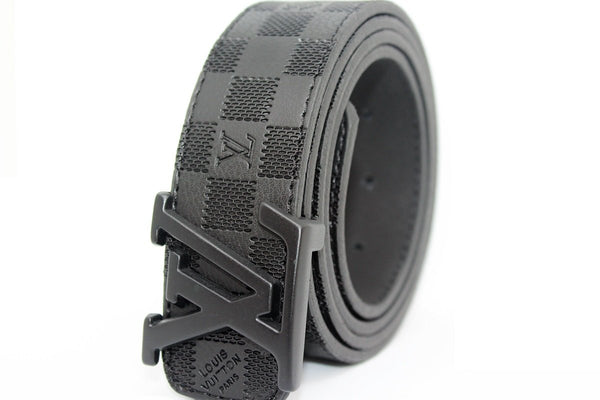 Black Damier Leather Belt