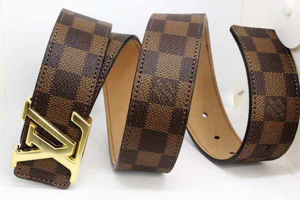 Amazing belt, Brown square pattern