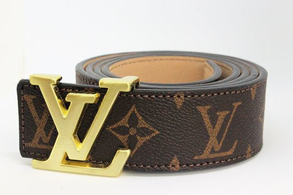 Brown Monogram style Leather Belt Amazing