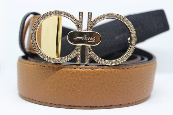 Reversible Leather Belt Double Color Excellent Colors
